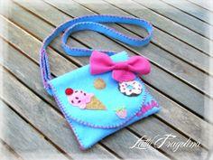 Borsetta in feltro - dolci, by Latte Fragolina, 15,00 € su misshobby.com