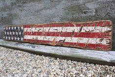 Rustic Distressed American Flag USA Star by TheUnpolishedBarn