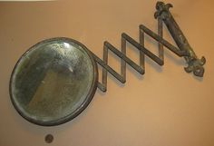 $50   VINTAGE~Old Iron BARBER SHOP MIRROR~Extendable Arm & Wall Mount | eBay