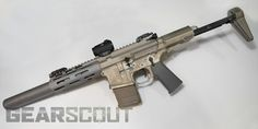 Hacked by husband!  WIN!    This is the AAC Honey Badger .300 Blackout, 6 inch suppressed barrel.  I. Want. One.