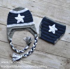 Crochet Dallas Cowboys Hat and Diaper Cover Set boy football by  MadeWithLoveCba on Etsy https  3706ac182d82
