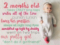 Monthly pics of baby Newborn Pictures, Baby Pictures, Baby Photos, Baby E, Diy Baby, Baby Memories, Baby Album, Baby Keepsake, New Baby Girls