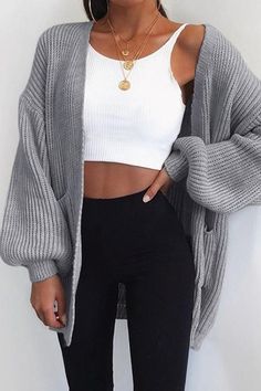 Fall styles 548735535850902650 - Puff Sleeve Bat Loose Cardigan – Chicmony So. - Fall styles 548735535850902650 – Puff Sleeve Bat Loose Cardigan – Chicmony Source by Source by - Bikini Inspiration, Inspiration Mode, Mode Outfits, Fashion Outfits, Womens Fashion, Party Fashion, Cardigan Long, Fall Cardigan, Oversized Cardigan