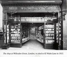 WHSmith shop front from 1915