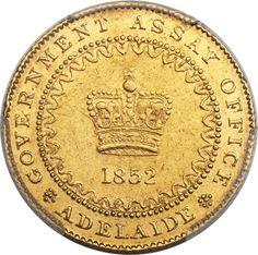 Australia: South Australia. British Colony gold Adelaide Pound Type 1 1852 AU58 PCGS