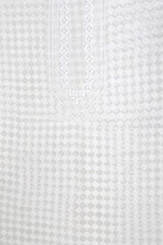 Ada #handembroidered #White #PureGeorgette #Lucknow #Chikankari Men's Kurta Piece-A575551