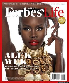 Alek Wek on the cover of Forbes magazine.
