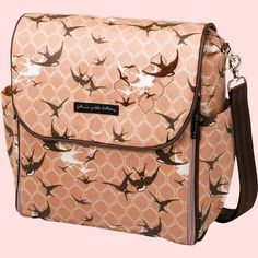 eek! My diaper bag, thanks Mom!! :) Sparrows on the Seine Petunia Pickle Bottom Boxy Backpack