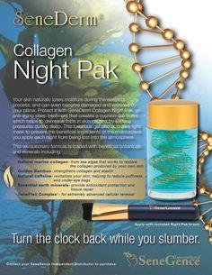 Collagen night pak by Senegence (makers of LipSense). Anti Aging Treatments, Skin Treatments, Anti Aging Cream, Anti Aging Skin Care, Senegence Makeup, Senegence Products, Skin Products, Facial Products, Beauty Products