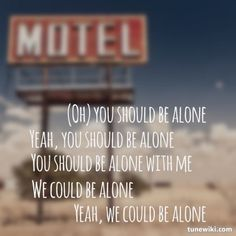 """-- #LyricArt for """"Be Alone"""" by Paramore"""