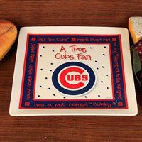 Chicago Cubs True Fan Ceramic Square Plate #ultimatetailgate #fanatics