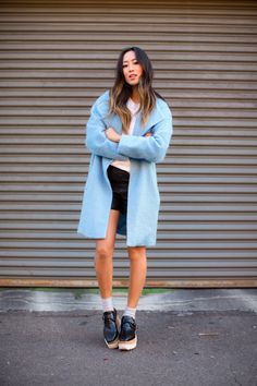 aimee_song_blue_wool_coat_stella_mccartney_platform_loafers_4