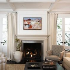 Abstract landscape painting - traditional - living room - los angeles - Blue Tangerine Art