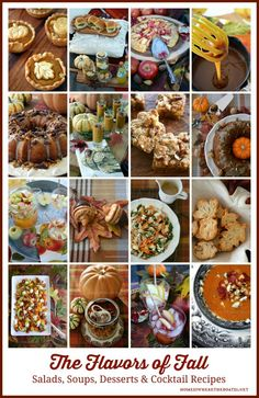 The Flavors of Fall: Apple, Pumpkin, Butternut, Caramel and more! Recipes for Salads, Soups, Desserts & Cocktails | homeiswheretheboatis.net #recipes #fall