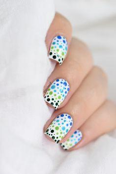 Marine Loves Polish: Nailstorming - Gradient Dotticure - Kinetics Rio Rio