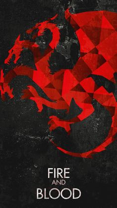 Fire And Blood Game Of Thrones House Targaryen Dragons Android Wallpaper.jpg (1080×1920)