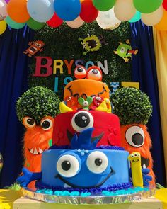 Bryson's Silly Monster Theme Birthday Party Ideas Boys First Birthday Party Ideas, 1st Boy Birthday, Boy Birthday Parties, Birthday Party Decorations, Monster Birthday Cakes, Monster Party, Twins 1st Birthdays, Heart, Decorating Cakes