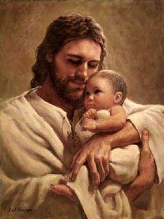 Jesús cargando un bebito