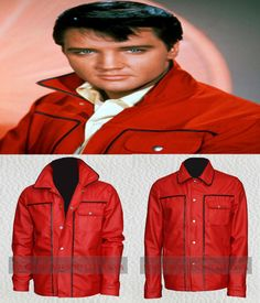 Elvis Presley New Red Leather Jacket with Free Shipping  #ElvisPresley #MensFashion #LeatherJackets   http://www.moviesoutfit.com/product/elvis-presley-new-mens-fashion-leather-jacket/