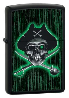 Pirate With Swords Zippo Lighter