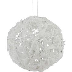 White Glitter Wire and Cotton Ball