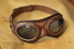 Fact: Everything is more awesome when done while wearing goggles. (Steampunk aviator goggles by DenBow) Steampunk Accessoires, Mode Steampunk, Style Steampunk, Steampunk Gadgets, Steampunk Fashion, Steampunk Drawing, Gothic Steampunk, Steampunk Bedroom, Steampunk Furniture
