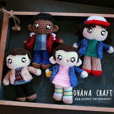 Stranger Things crochet dolls