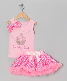 Take a look at this Pink '4 Birthday Girl' Tank & Pettiskirt - Girls by So Girly & Twirly on #zulily today!