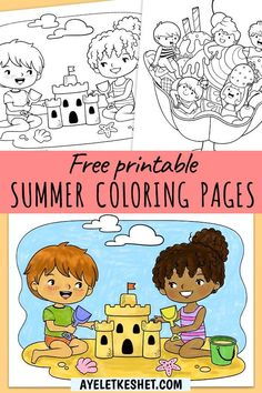 Free printable summer coloring page for kids. #Ayelet_Keshet #coloringpages #printables #freeprintables #coloring #coloringpagesforkids Free Kids Coloring Pages, Minecraft Coloring Pages, Coloring Pages For Teenagers, Summer Coloring Pages, Bird Coloring Pages, Cat Coloring Page, Free Printable Coloring Pages, Coloring For Kids, Free Coloring