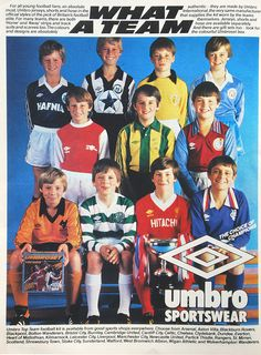 Diamonds Work Wonders – the Umbroset umbro kidsumbro kids Football Ads, Football Images, Football Design, Vintage Football, Football Jerseys, Football Stuff, Football Boots, Super Club, Association Football