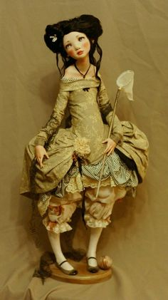 Doll by Alisa Filippova Clay Dolls, Bjd Dolls, Doll Toys, Barbie Dolls, Gothic Dolls, Realistic Dolls, Doll Maker, Ball Jointed Dolls, Artist Art