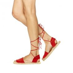 Suede Balearic Tie-Up Sandal