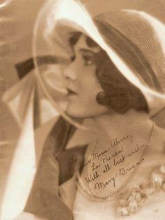 Mary Brian In Profile - Rare Signed Portrait - Circa 1926