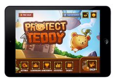 Protect Teddy Mobile Game UI on Behance