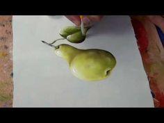 Ensinando pintar pera com Rosa Foeger. no próximo vídeo estarei pintando a maçã, obrigada a todos.
