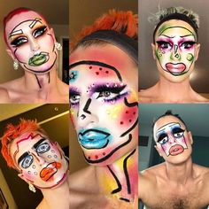 Do you have what it takes? Only those with Charisma, Uniqueness, Nerve and Talent will make it to the top! Start your engines. Drag Queen Makeup, Drag Makeup, Makeup Style, Makeup Inspo, Makeup Art, Makeup Inspiration, Beauty Makeup, Halloween Clown, Halloween Makeup