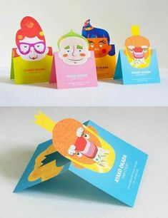 Creative Business Cards Folded Cute Salon