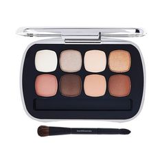 bareMinerals READY Eyeshadow 8.0 The Suede Neutrals found on Polyvore featuring beauty products, makeup, eye makeup, eyeshadow, bare escentuals eyeshadow, mineral eye shadow, palette eyeshadow, bare escentuals eye shadow and mineral eyeshadow
