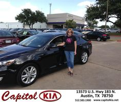 #HappyAnniversary to Charlotte  Anderson on your 2013 #Kia #Optima from Therion Mitchell at Capitol Kia!
