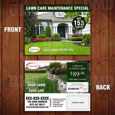 New Lawn Care Ticker Promo Template: # lawncaremarketing | Lawn ...