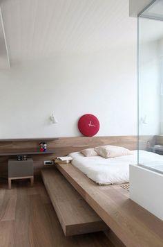 Japanese modern floor bed