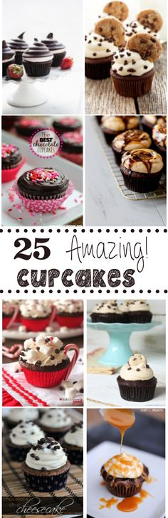 Amazing Cupcake Recipes 25 Amazing Cupcake Recipes to try because they are so fun and sweet. It represents women in many different Amazing Cupcake Recipes to try because they are so fun and sweet. It represents women in many different ways Baking Cupcakes, Yummy Cupcakes, Cupcake Recipes, Baking Recipes, Cupcake Cakes, Dessert Recipes, Cupcake Ideas, Oreo Cake Pops, Crinkle Cookies