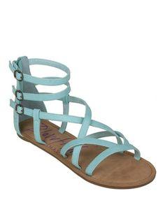 Baby blue gladiator sandals