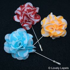 Chevron chiffon flowers light and airy men's lapel flowers men's fashion accessories spring summer 2014 boutinerres