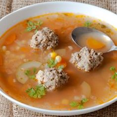 Sope de Albondigas- this is pretty similar to my moms recipe withe a ...