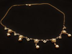 Lovely Vintage Gold Plated Faux Pearl Art by TheJewelryCabinet, $14.75