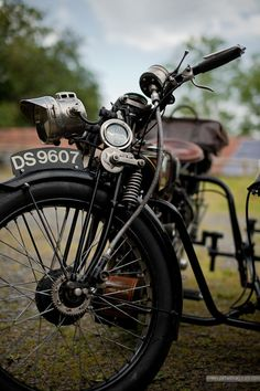James motorcycle & sidecar by Stefan Marjoram