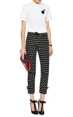 Iulli Cropped Polka Dot Trousers by Vivetta