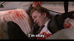 Mr Orange is reassured by Mr White- Reservoir Dogs by Quentin Tarantino Quentin Tarantino, Tarantino Films, Reservoir Dogs, Movie Gifs, Movie Shots, Movie Tv, Movie Blog, Film Quotes, Dog Quotes