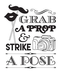 Grab a Prop and Strike a Pose Printable by TheCraftySnood on Etsy Fall Photo Props, Wedding Photo Booth Props, Photo Booth Backdrop, First Birthday Balloons, Sofia The First Birthday Party, 21st Party, 40th Birthday, Anniversary Party Games, Anniversary Photos